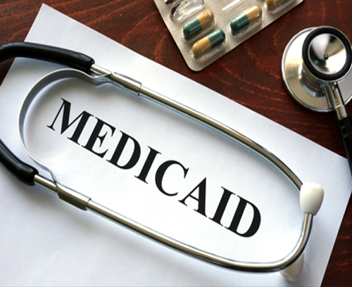Photo of a sign that says Medicaid
